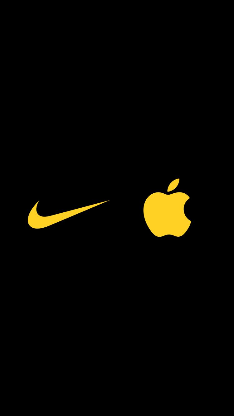 Black And Yellow Nike Logos