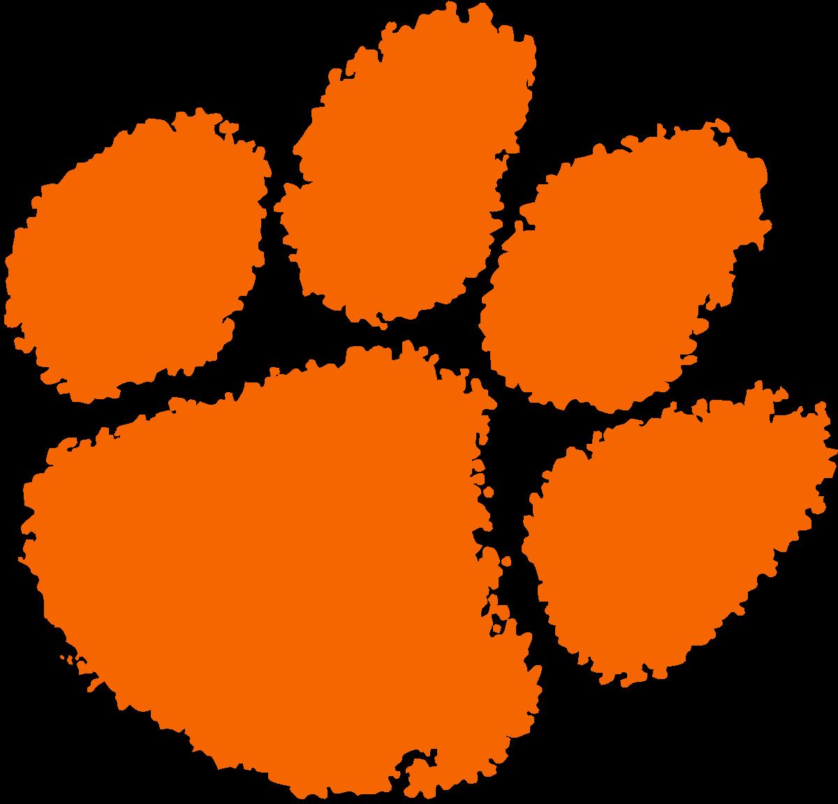 Clemson paw Logos