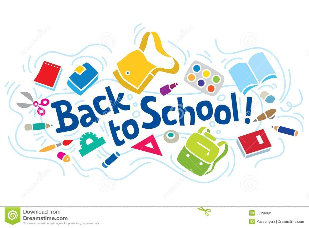 Fondo Utiles Escolares Vector: Back To School Logos