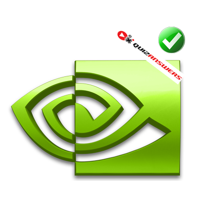 Green and white Logos