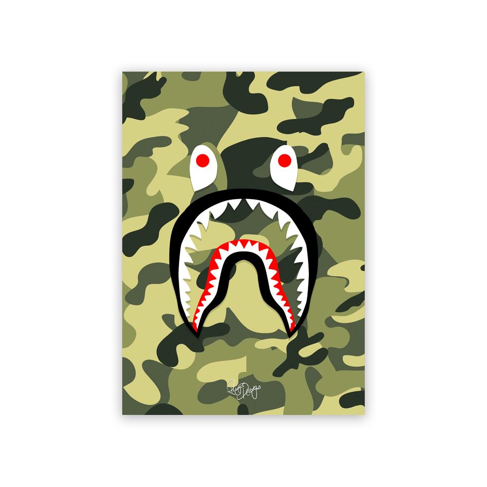 03001285cf7b Rhys Designs — BAPE  Shark  Green Camo