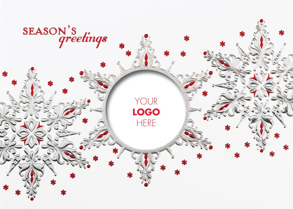 Business christmas cards with Logos