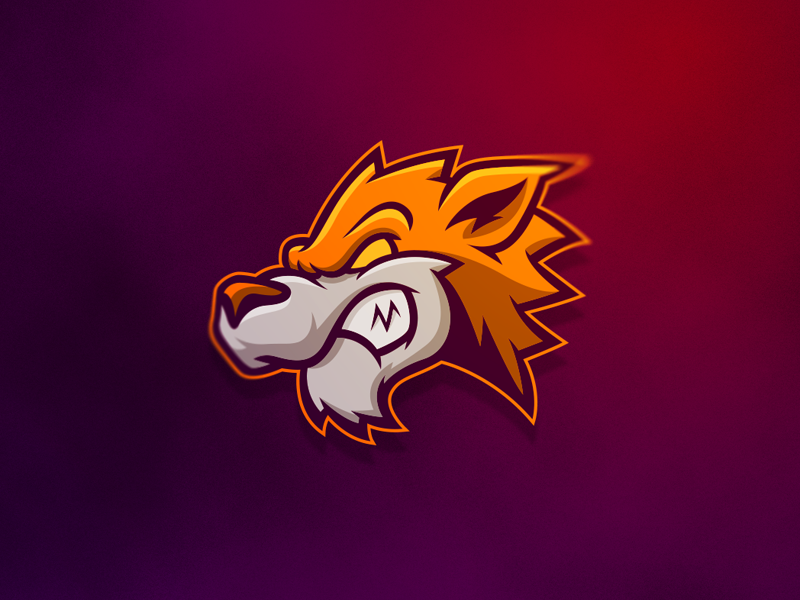 Wolf mascot Logos