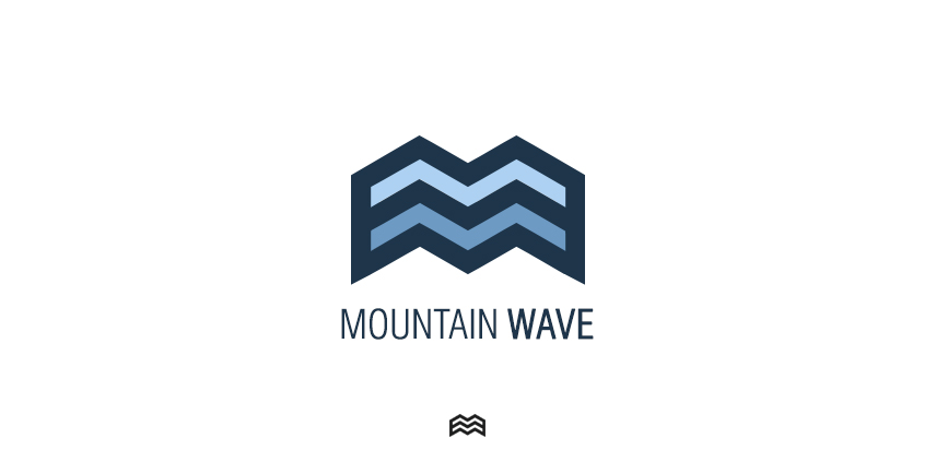 wave and mountain logos