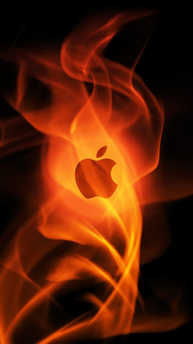 Galaxy Cool Apple Logo Wallpaper