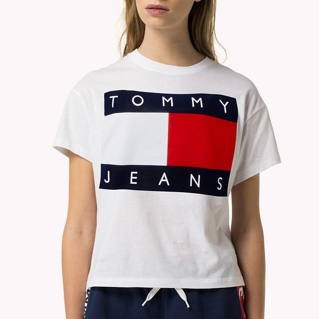 60ca121a Tommy Hilfiger Denim Jeans Logo T, Shirt Damen 90´s .