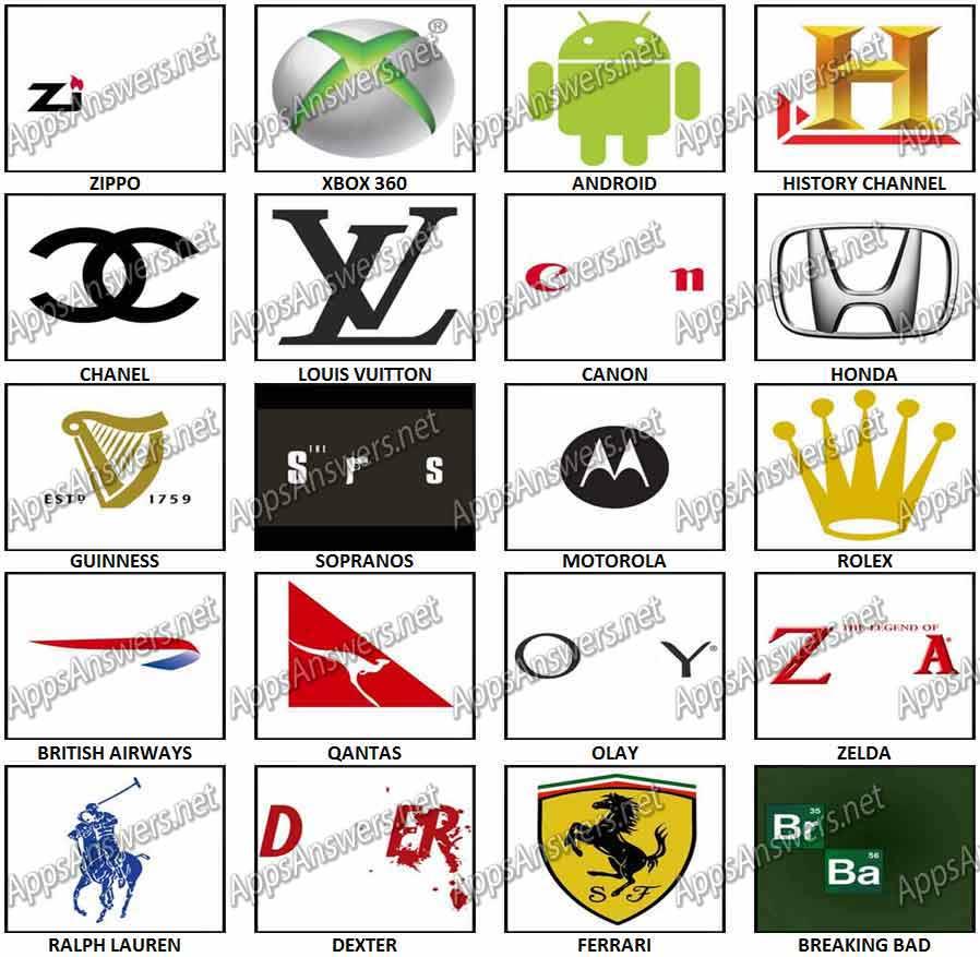 100 Pics Lösungen Logos