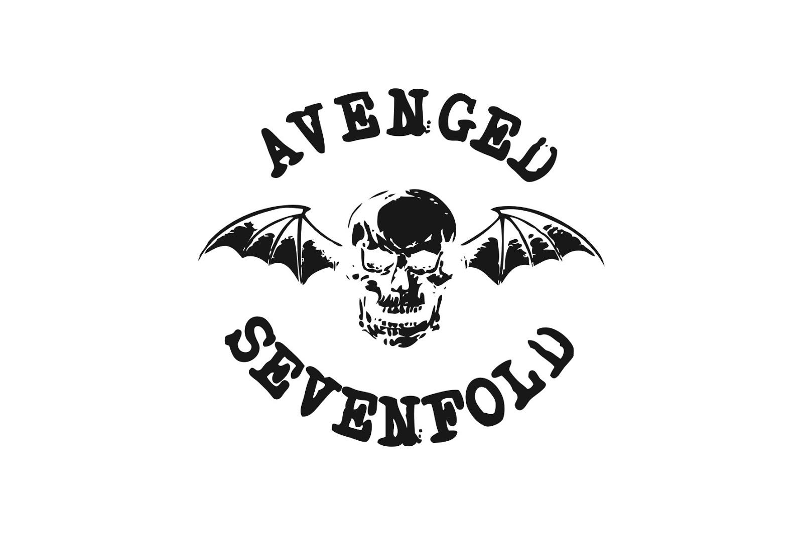 Sketsa Lambang Avenged Sevenfold Black And White