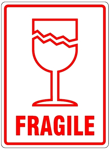 Fragile glass Logos