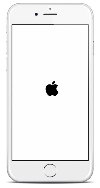iphone frozen on apple logos