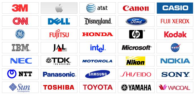 Japanese electronics Logos