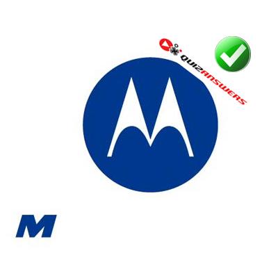 Blue And White Circle Logos