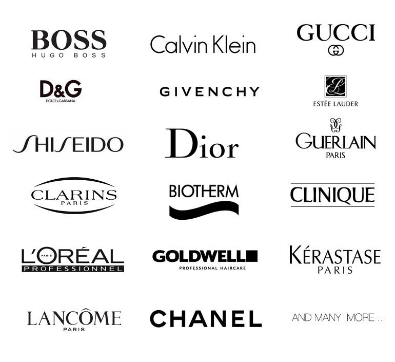 Hair products brands Logos