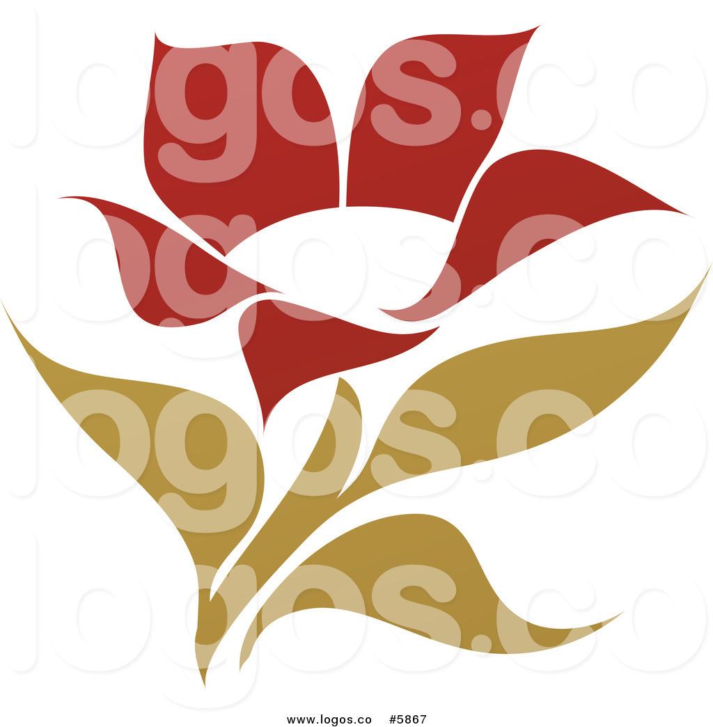 Red Flower Logos