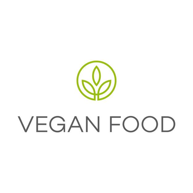 vegan food logo vector premium download