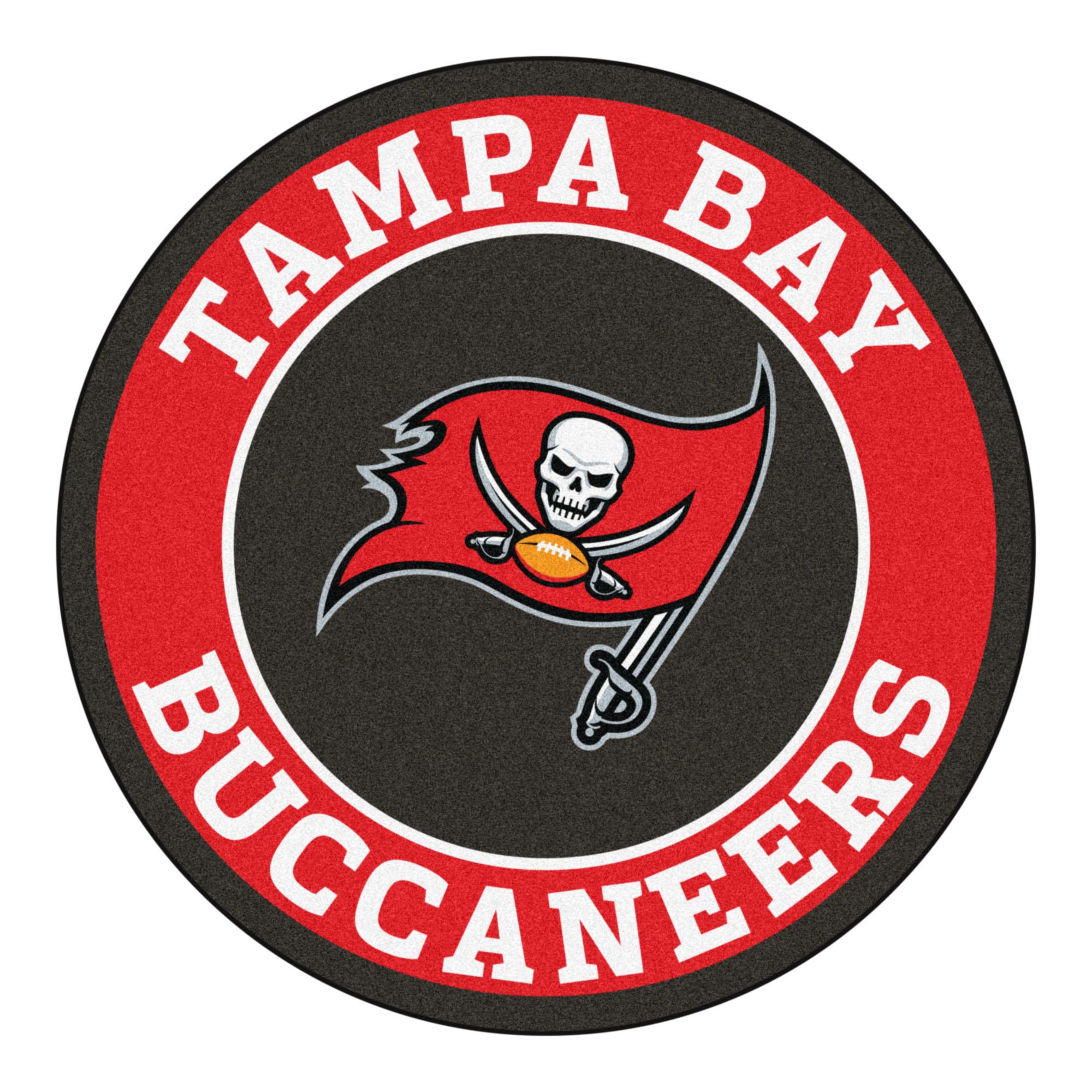 Tampa Bay Buccaneers Logo Roundel Mat 27 Round Area Rug