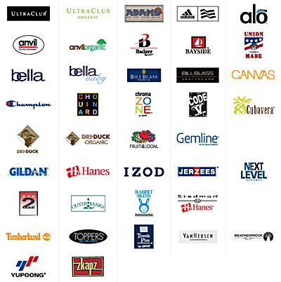 Sports Clothes Brand Logos