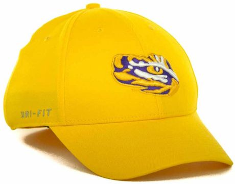 the best attitude 46c41 89967 ... inexpensive nike lsu tigers drifit swoosh flex cap in gold for men lyst  3a623 47ab4