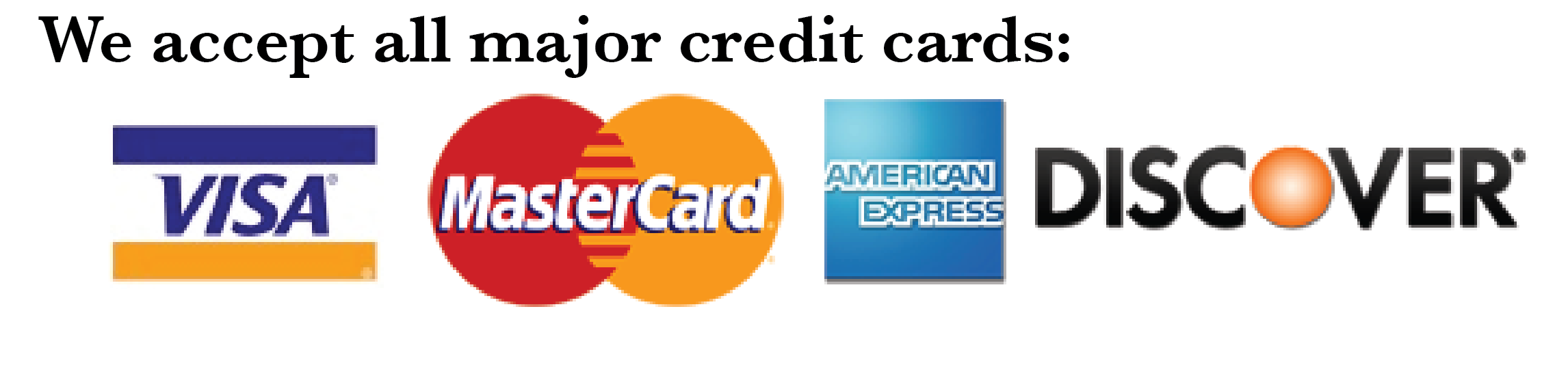 Image result for accept all credit card logos