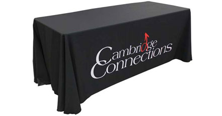 trade show tablecloth with logos rh logolynx com