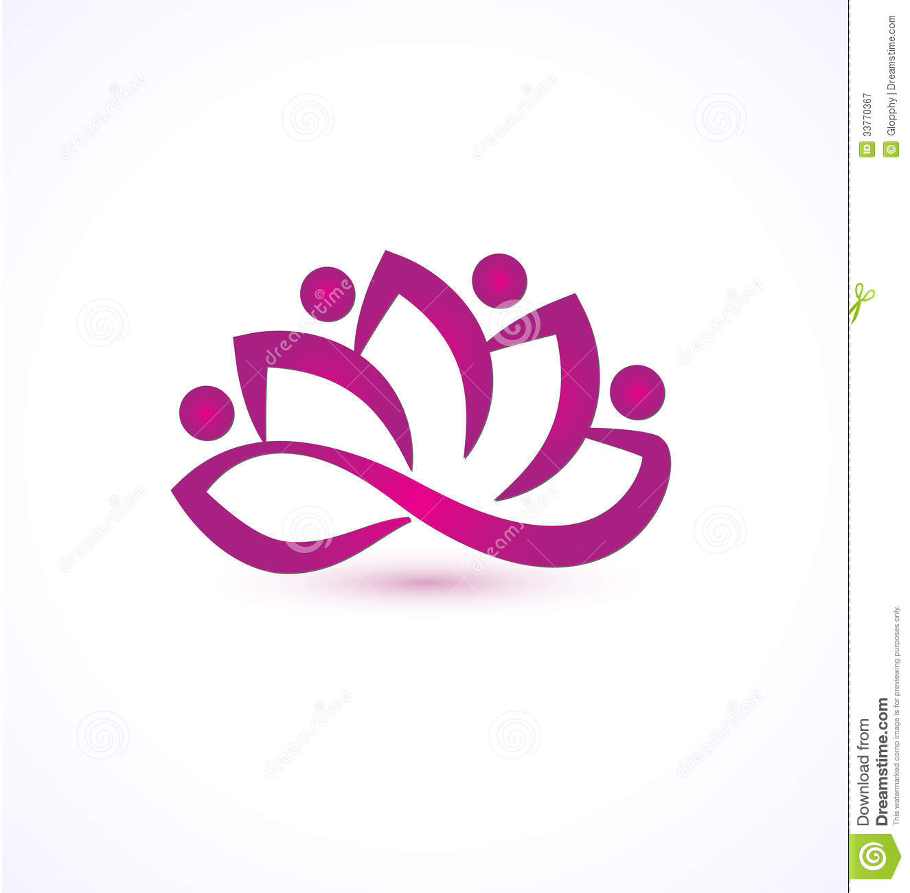 Lotus flower logos purple lotus flower logo royalty stock photography izmirmasajfo