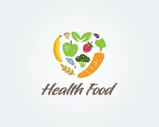 Heart Food Logos