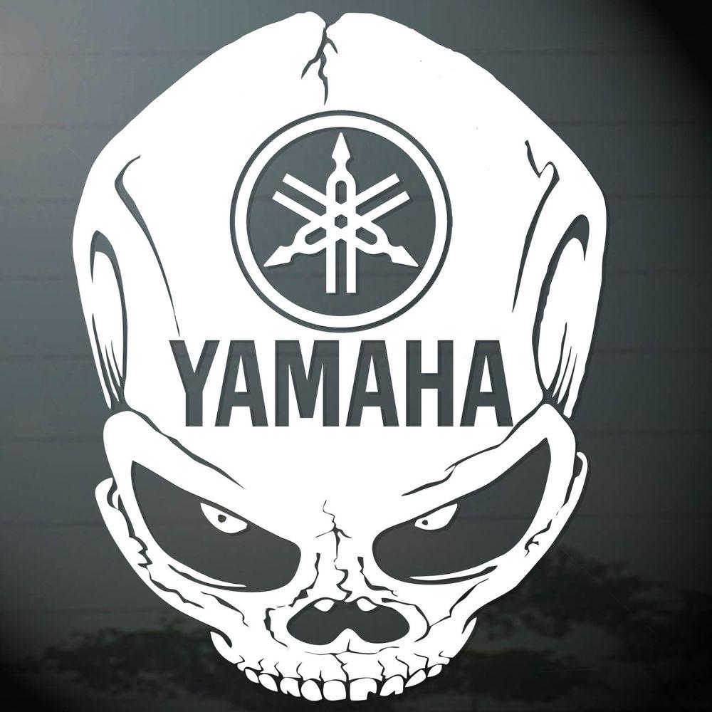 6 0x1p yamaha skull head decal sticker die cut auto motor