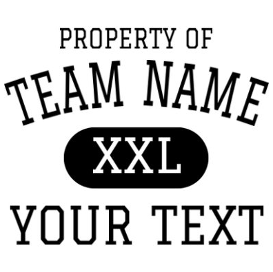 Property Of Athletic Department Logos - Property of t shirt template