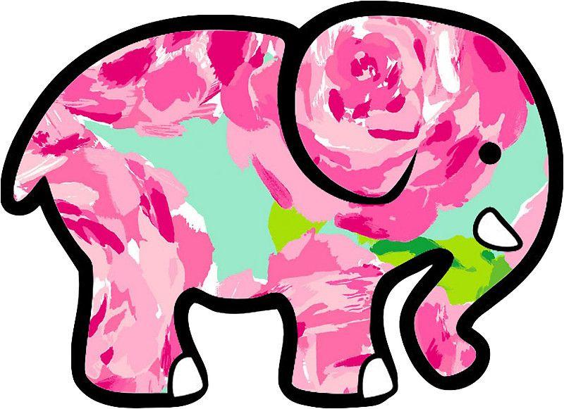 8fd822295b30 Ivory Ella Elephant Sticker Lilly Pulitzer Inspired