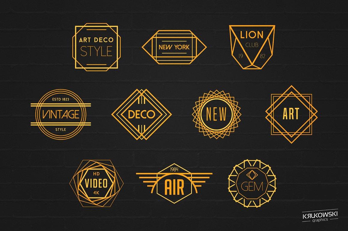 Art Deco Logos