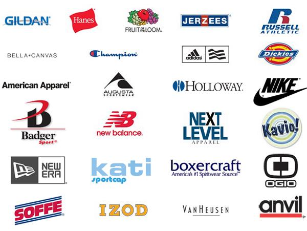 T Shirt Brand Logos