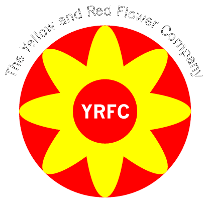 Yellow and red flower logos the yellow and red flower company logo vector logos mightylinksfo
