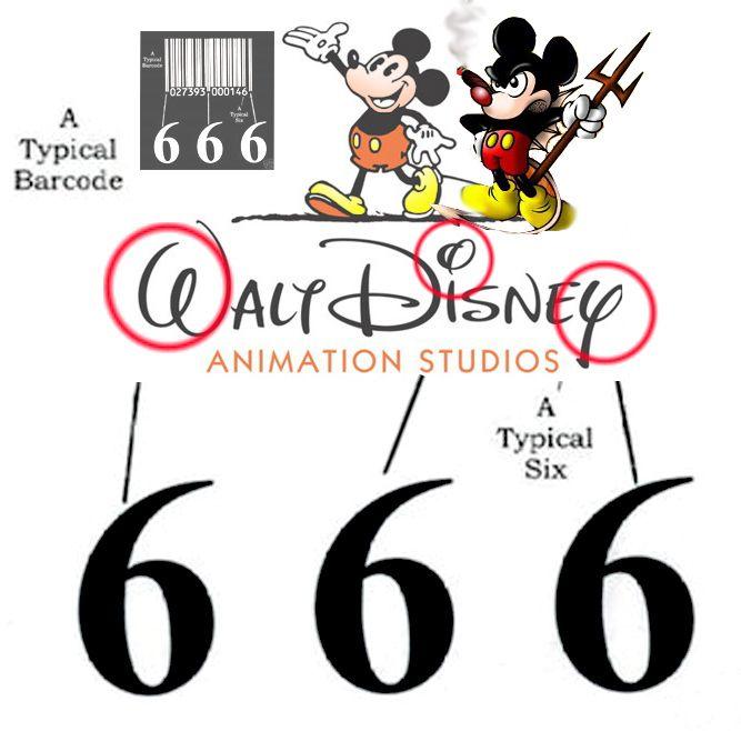 Disney Satanic Logos