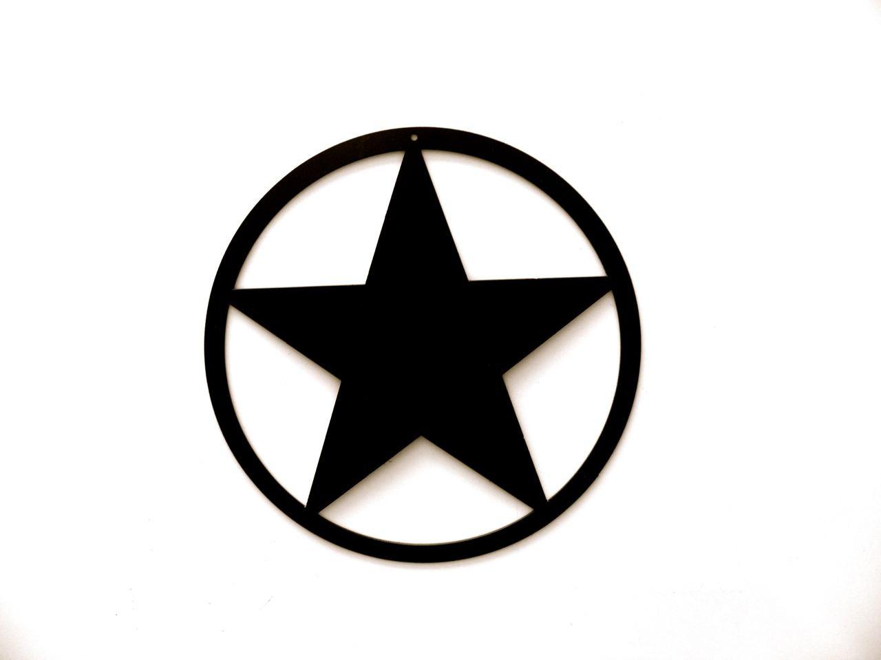 Black Star In Circle Logos
