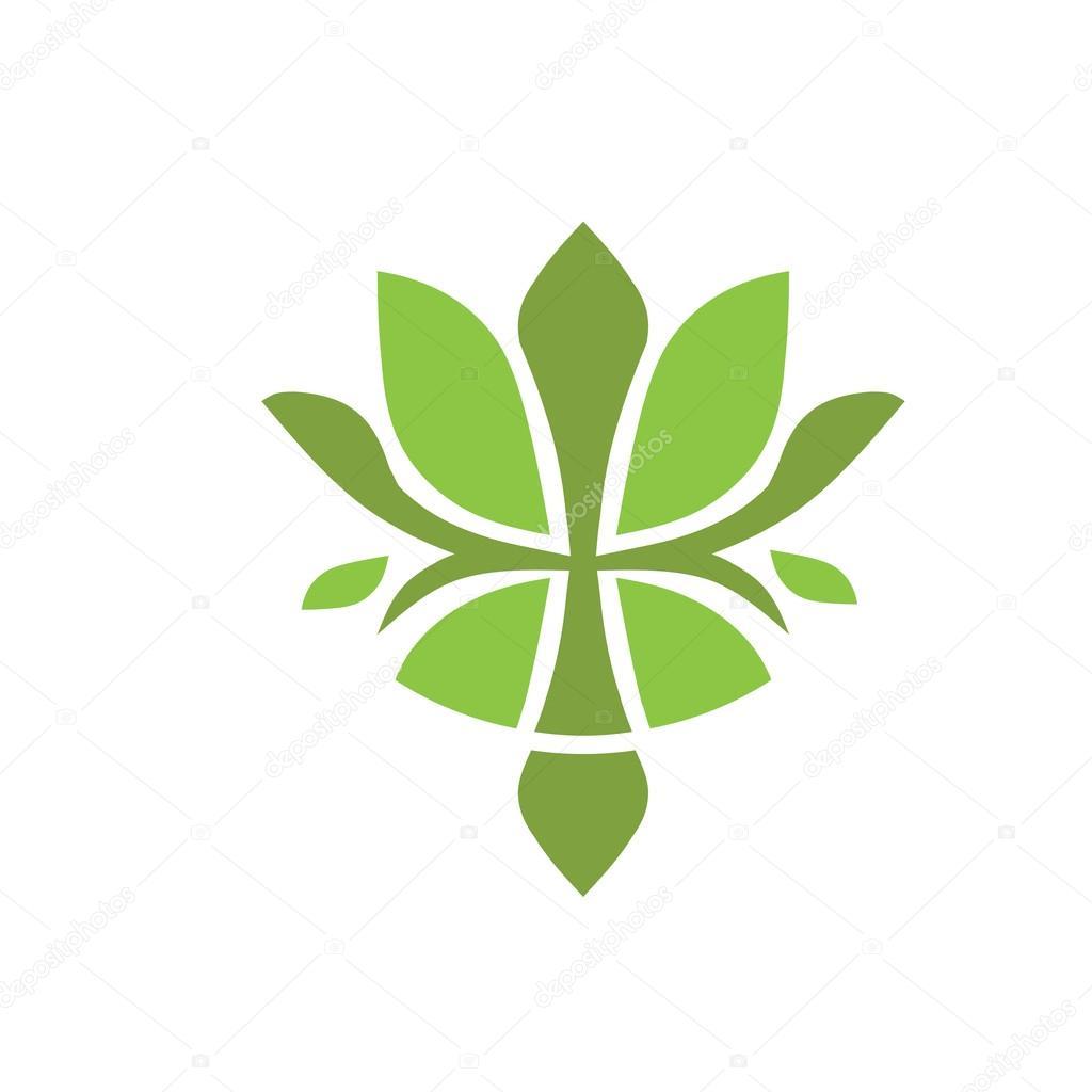 Green Flower Logos