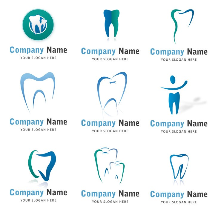 Icon Collection Dental Logo Illustrator Vector