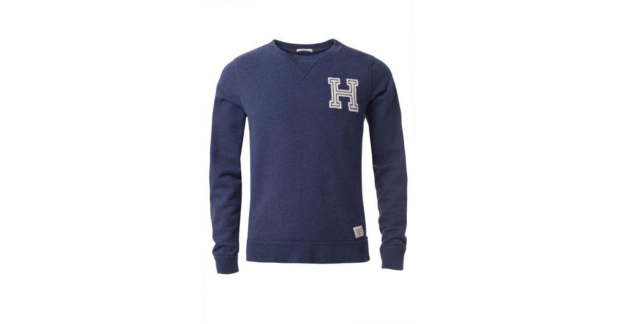 404dd674a Tommy hilfiger Novelty Logo Sweater in Blue for Men