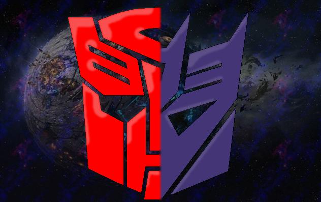 decepticon vs autobot logos