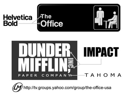 FONTS USED FOR THE OFFICE LOGOS Theoffice Us