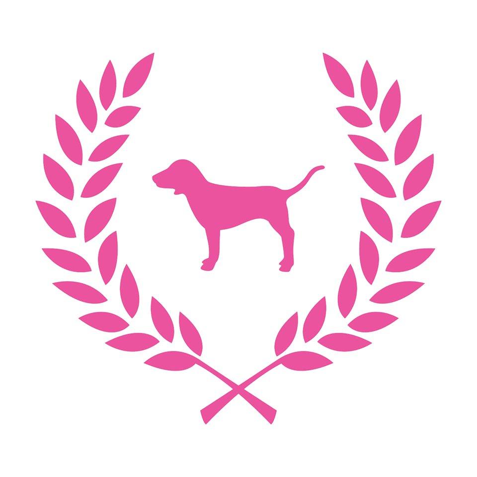 Vs pink dog Logos