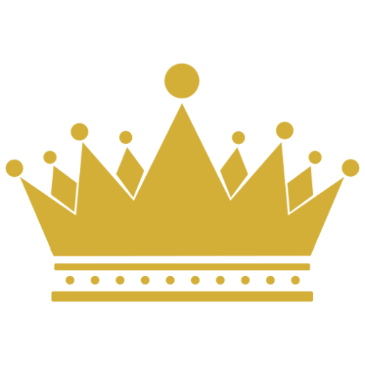 Logo Yellow Crown Blue Background  Images Yellow