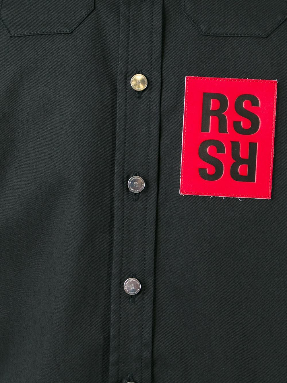 a703c48fe9 Raf simons Logo Patch Shirt in Black for Men