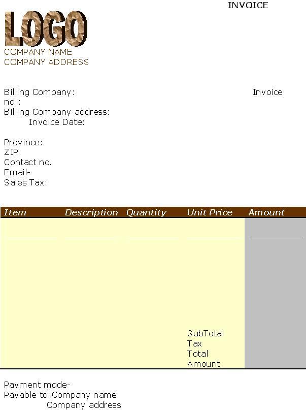 free html invoice template - Monza berglauf-verband com