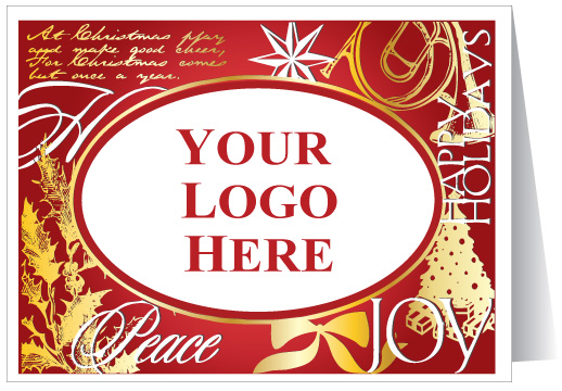 custom holiday logo card 36213 harrison greetings - Custom Holiday Cards For Business