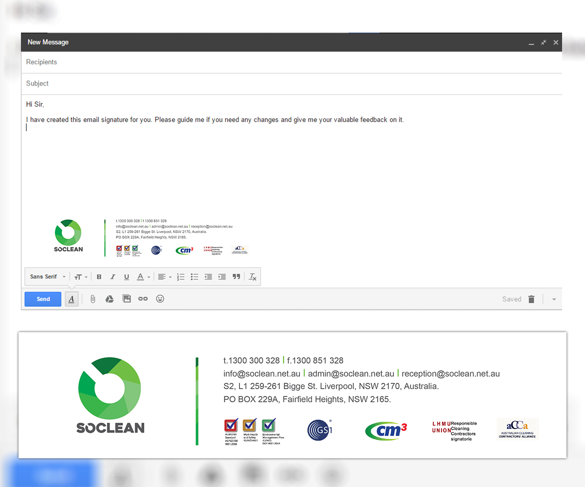Create email signature with Logos