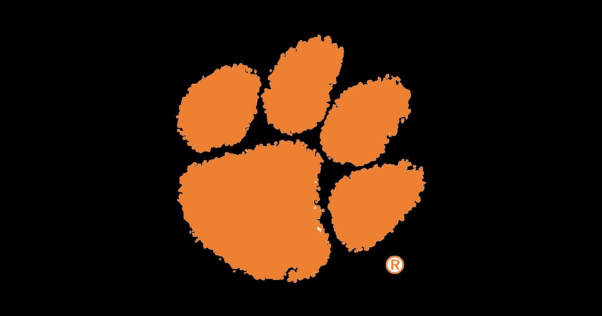 Clemson tiger Logos paw