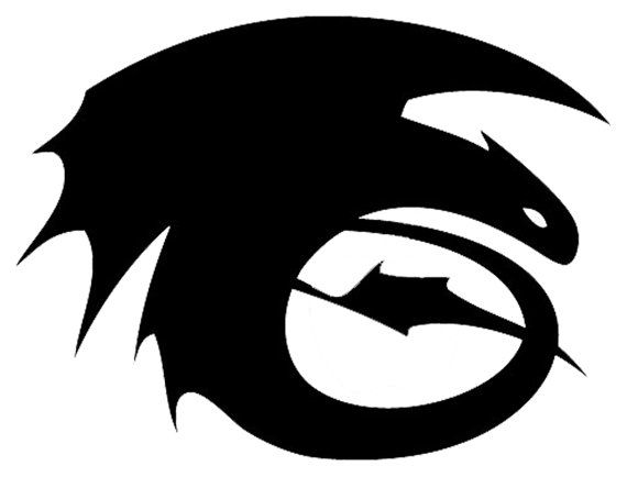 how to train your dragon tail logo