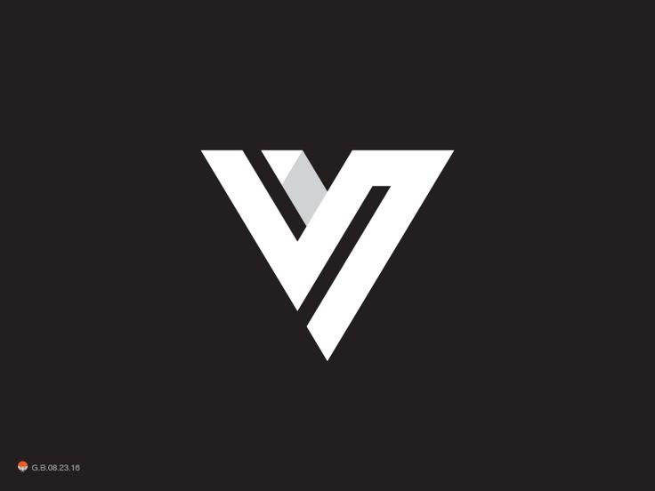v letter logos