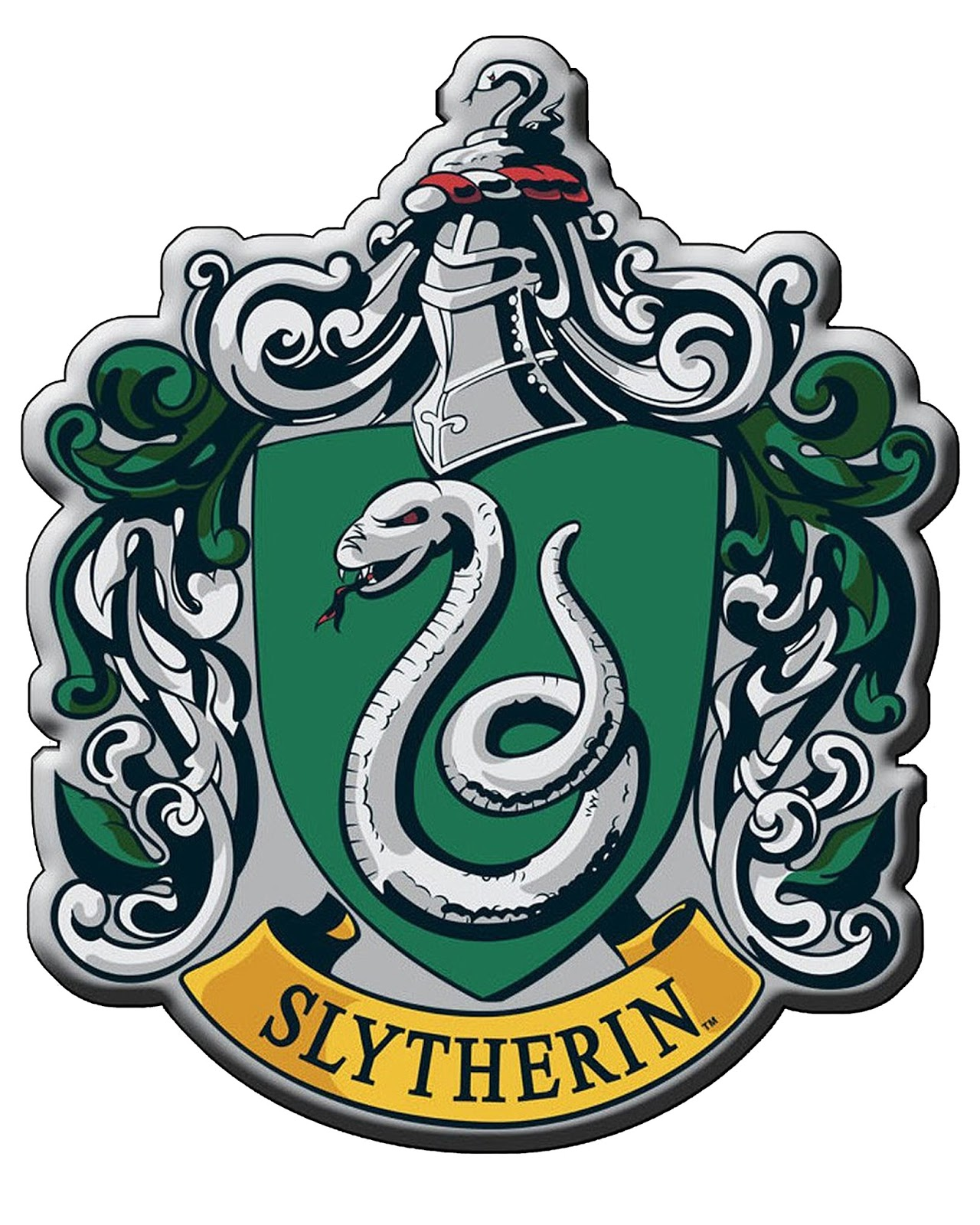 image regarding Harry Potter House Banners Printable named Slytherin Trademarks