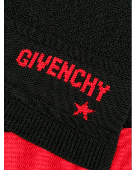 23a3b23aa41 Givenchy Logo Knit Scarf in Black